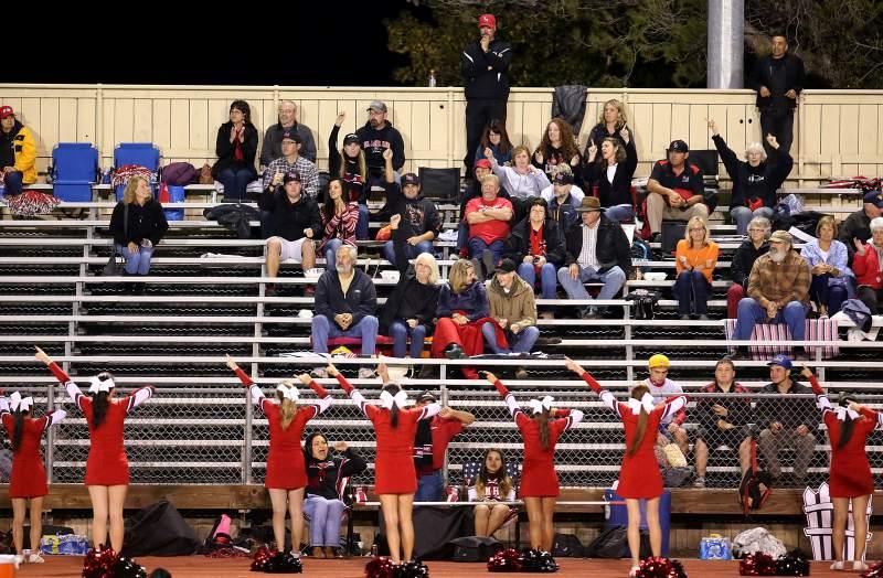 El Molino fans at a Petaluma High football game.  Photo: Crista Jeremiason / Press Democrat