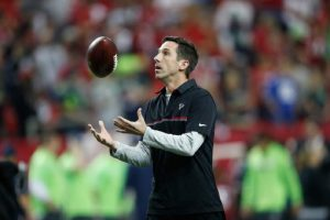 Kyle Shanahan has spent his life around the NFL. Is that a good thing? (AP Photo)