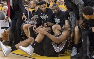 Kawhi Leonard, MVP candidate and playoff casualty. Photo: Associated Press