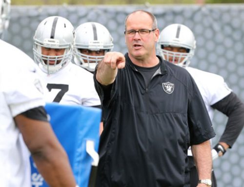 14 minutes with Raiders O-line coach Mike Tice